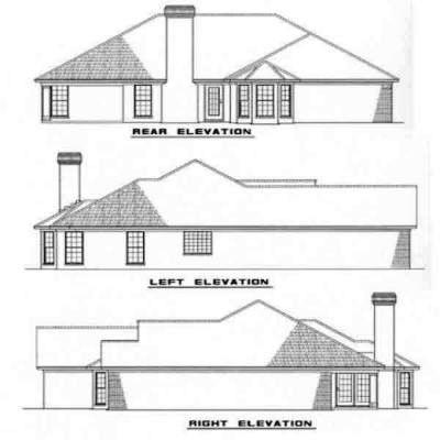 Rear Elevation Plan: 12-181