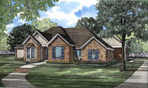 Southern Style Home Design 12-182