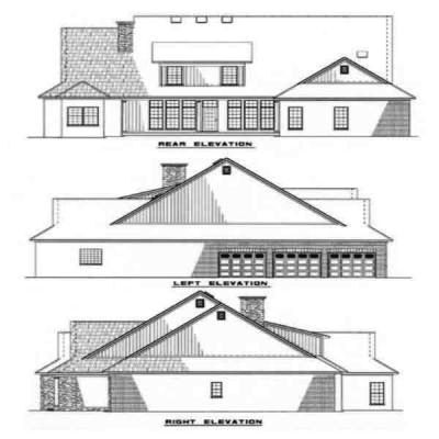 Rear Elevation Plan: 12-183