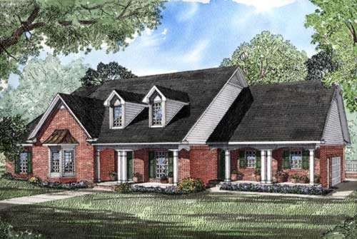 Southern Style Floor Plans Plan: 12-184