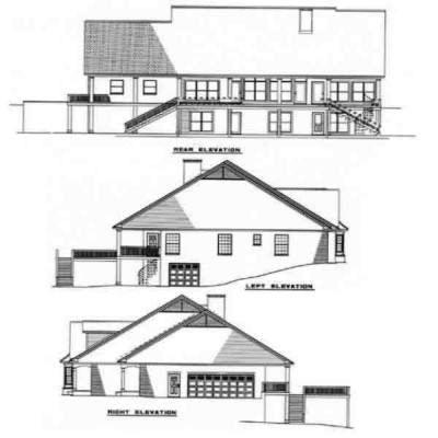 Rear Elevation Plan: 12-184