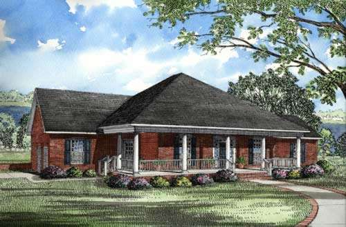 Southern Style Floor Plans Plan: 12-185