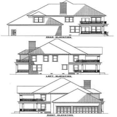 Rear Elevation Plan: 12-187