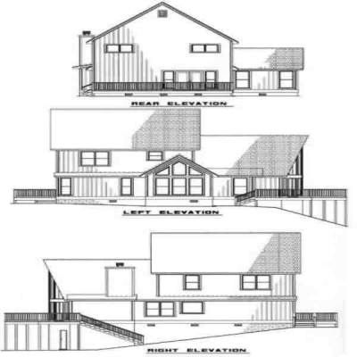 Rear Elevation Plan: 12-188