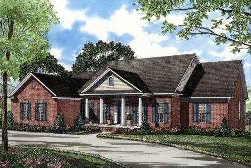 Southern Style Home Design Plan: 12-189