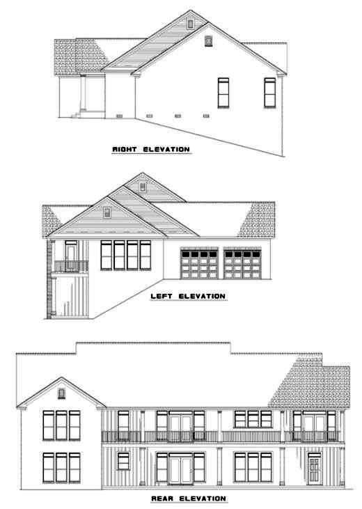 Rear Elevation Plan: 12-189