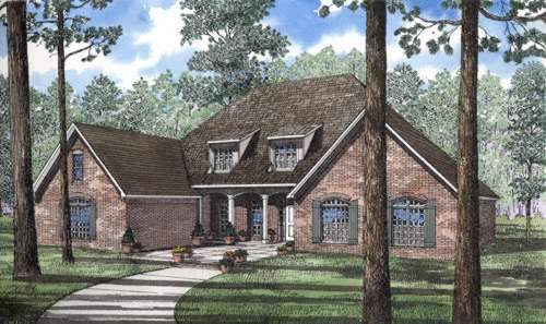 Southern Style Home Design Plan: 12-190