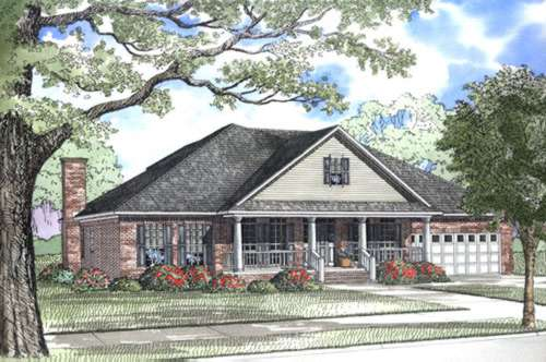 Southern Style Floor Plans Plan: 12-192