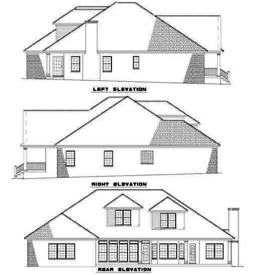 Rear Elevation Plan: 12-192