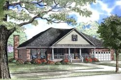 Southern Style Home Design Plan: 12-192