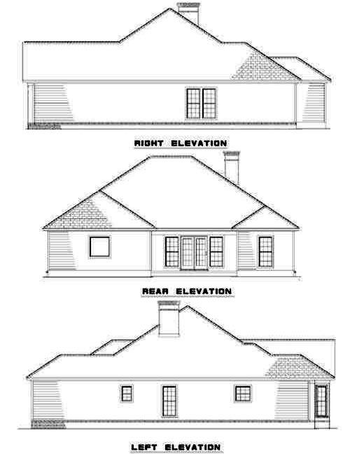 Rear Elevation Plan: 12-193