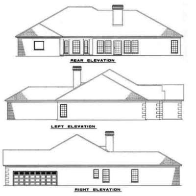 Rear Elevation Plan: 12-194