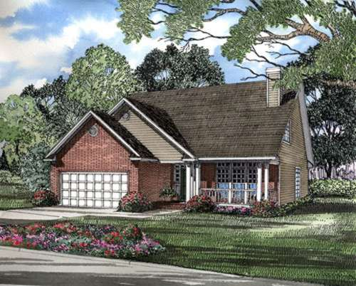 Southern Style Home Design Plan: 12-196