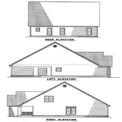Rear Elevation Plan: 12-196