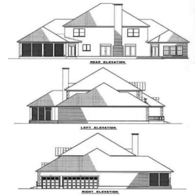 Rear Elevation Plan: 12-197