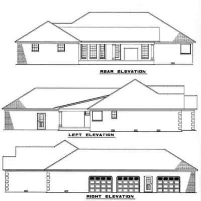 Rear Elevation Plan: 12-198