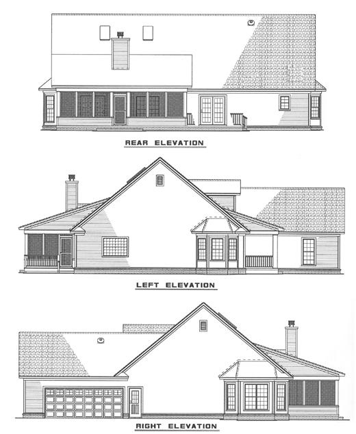 Rear Elevation Plan: 12-199