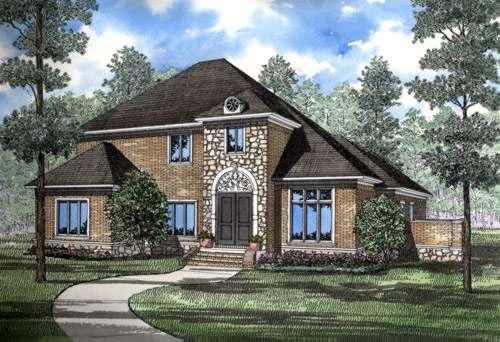 European Style House Plans Plan: 12-202