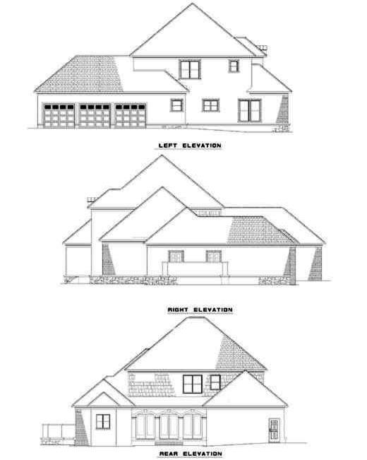 Rear Elevation Plan: 12-202
