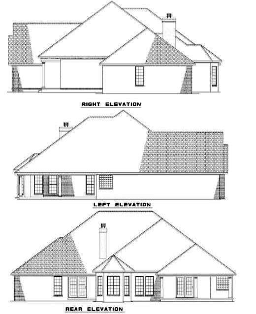 Rear Elevation Plan: 12-203