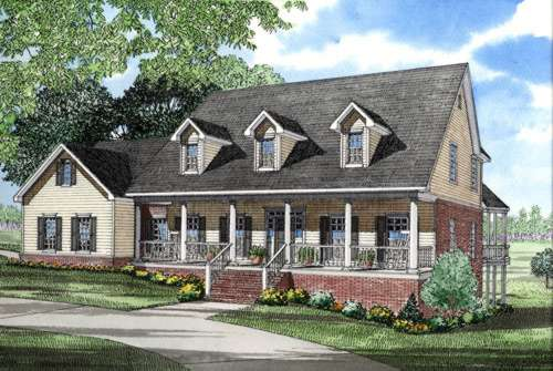 Southern Style Floor Plans Plan: 12-204