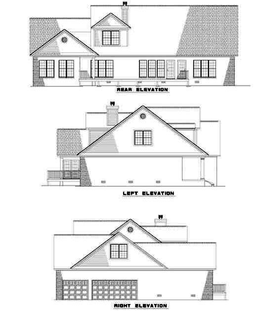 Rear Elevation Plan: 12-205