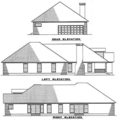 Rear Elevation Plan: 12-206