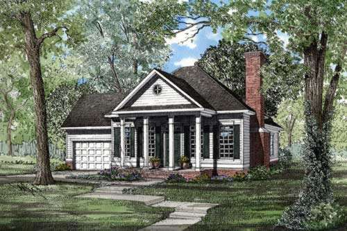 Southern Style Floor Plans Plan: 12-208