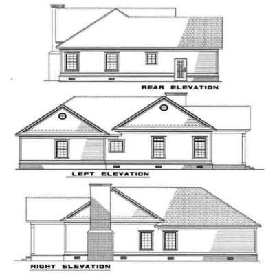 Rear Elevation Plan: 12-208
