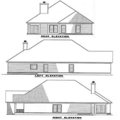 Rear Elevation Plan: 12-210