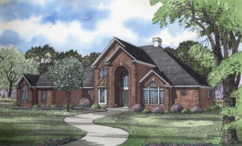 European Style House Plans Plan: 12-211