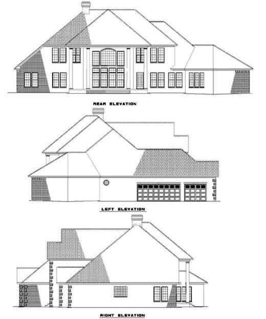 Rear Elevation Plan: 12-211