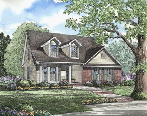 Country Style Home Design Plan: 12-212