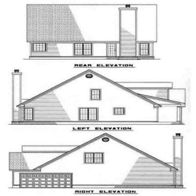 Rear Elevations Plan:12-212