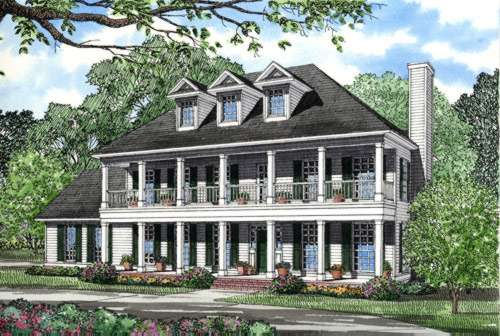 Southern-colonial House Plan - 3 Bedrooms, 2 Bath, 2268 Sq