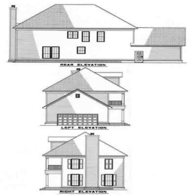 Rear Elevation Plan: 12-213