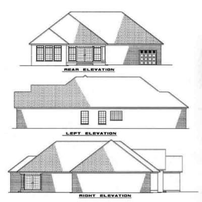 Rear Elevation Plan: 12-216