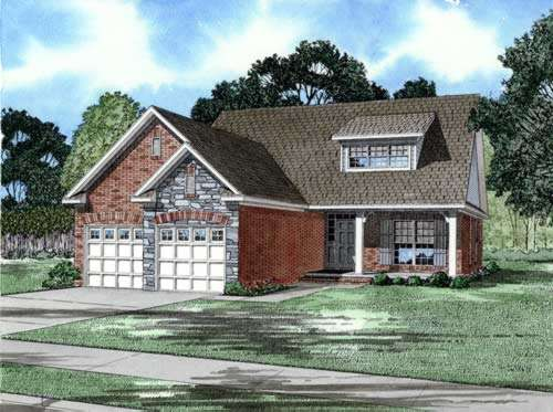 French-country Style Floor Plans Plan: 12-217