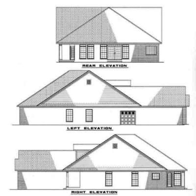 Rear Elevation Plan: 12-217