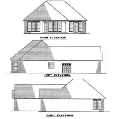Rear Elevations Plan:12-218