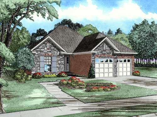 French-country Style House Plans Plan: 12-219