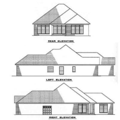 Rear Elevation Plan: 12-219