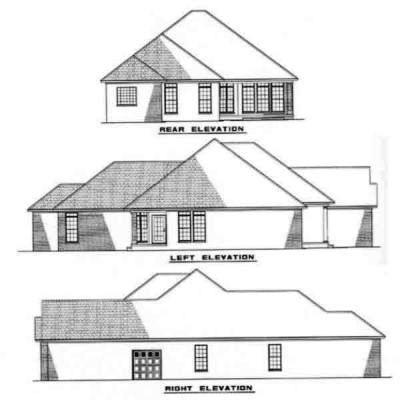 Rear Elevation Plan: 12-221