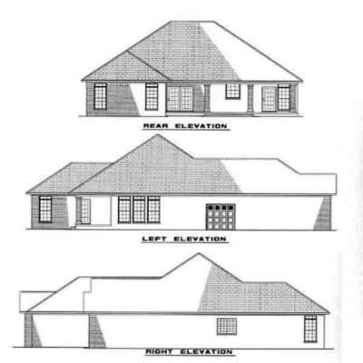 Rear Elevation Plan: 12-222