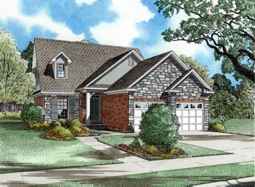 French-country Style House Plans Plan: 12-224