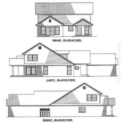 Rear Elevation Plan: 12-224