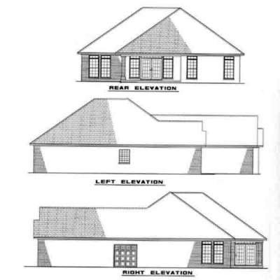 Rear Elevation Plan: 12-225
