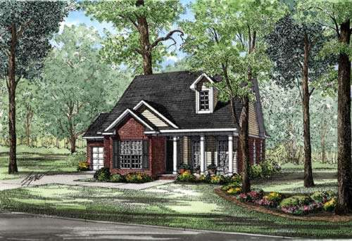 Country Style Home Design Plan: 12-226
