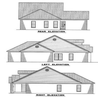 Rear Elevation Plan: 12-226
