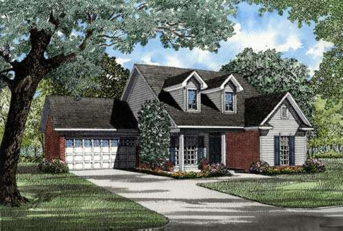 Southern Style Home Design Plan: 12-227